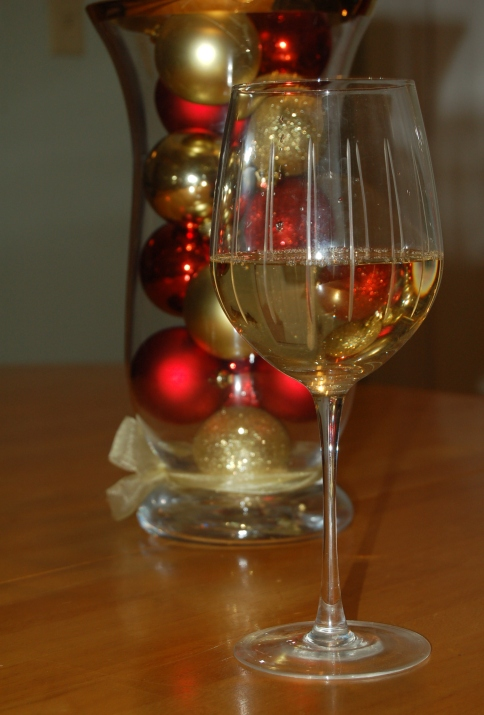 wine chrismas decor