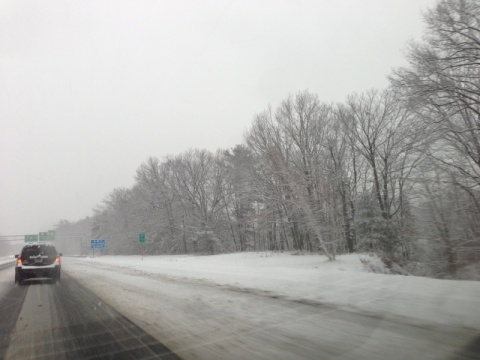 Snowy on the road
